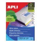 Apli 582418 Labels Round corners 99.1 x 34mm Wit 1600 stuksuk(s) etiket 8410782106326