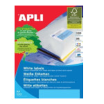 Apli 582412 Labels Round corners 199.6 x 289.1mm Wit 100 stuksuk(s) etiket 8410782024125