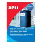 Apli 581228 Agipa Wetterfeste Folien-Etiketten, 210 x 297 mm, wit 8410782012283