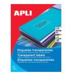 Apli 581225 Transparante etiketten formaat 210 x 297 mm (b x h), 20 stuks, 1 per blad, doos van 20 blad 8410782012252