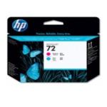 HP C9383A Cabeçote de impressão magenta e ciano 72 DesignJet Cyaan, Magenta 808736779609