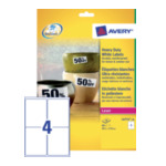 Avery L4774-20 Ultra-sterke etiketten, wit, 99,1 x 139,0 mm, extra permanent 4004182047743