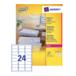 Avery L7159-250 Address Label - Laser 63.5 x 33.9 mm Wit 5014702810251