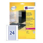 Avery L7170-25 Etiketten voor Geplastificeerde Folders, wit, 134,0 x 11,0 mm, permanent klevend 3266550263426