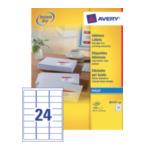 Avery J8159-100 J8159-100 Wit zelfklevendevend label adreslabels 3266550127186
