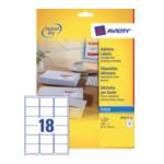 Avery J8161-40 White Address Label - Inkjet - J8161 Wit 3266550270189