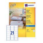 Avery J8160-100 White Address Label - Inkjet - J8160 Wit 3266550272213