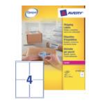 Avery L7169-100 L7169-100 Wit 400 stuksuk(s) etiket 3266550260043