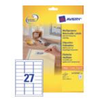 Avery L4737REV-25 L4737REV-25 Wit 675 stuksuk(s) etiket 4004182047378