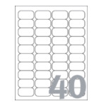 Avery J8654-25 White Mini Label - Inkjet - J8654 Wit 3266550129531