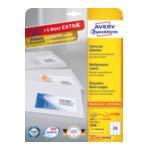 Zweckform 3490 Avery Universele Etiketten, wit, 70,0 x 36,0 mm, permanent klevend 4004182034903