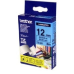 Brother TZ-531 Gloss Laminated Labelling Tape - 12mm, Black/Blue TZ labelprinter-tape 4977766052085