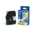 Brother TZ-C51 Gloss Laminated Labelling Tape - 24mm, Black/Yellow TZ labelprinter-tape 4977766052726