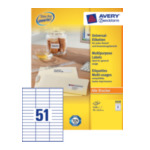Avery 3420 Universal Labels, White 70x16,9mm 5100 stuksuk(s) etiket 4004182034200