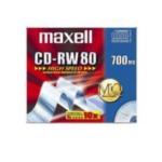 Maxell 626001 CD-RW 700MB 80Min 1-10x HighSpeed JC 10pk 700MB 10 stuksuk(s) 4902580450700