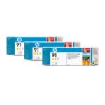 HP C9485A 91 gele inktcartridges, 775 ml, 3-pack 883585034871