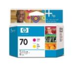 HP C9406A 70 magenta/gele DesignJet printkop 882780390775
