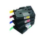 Brother TZ-M951 Matt Laminated Labelling Tape - 24mm, Black/Silver TZ labelprinter-tape 4977766601412