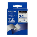 Brother TZ-253 Gloss Laminated Labelling Tape - 24mm, Blue/White TZ labelprinter-tape 4977766052788