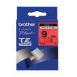 Brother TZ-421 Gloss Laminated Labelling Tape - 9mm, Black/Red TZ labelprinter-tape 5711045973628