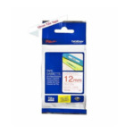 Brother TZ-232 Gloss Laminated Labelling Tape - 12mm, Red/White TZ labelprinter-tape 4977766052153