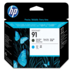 HP C9460A 91 matzwarte en cyaan printkop 882780987142