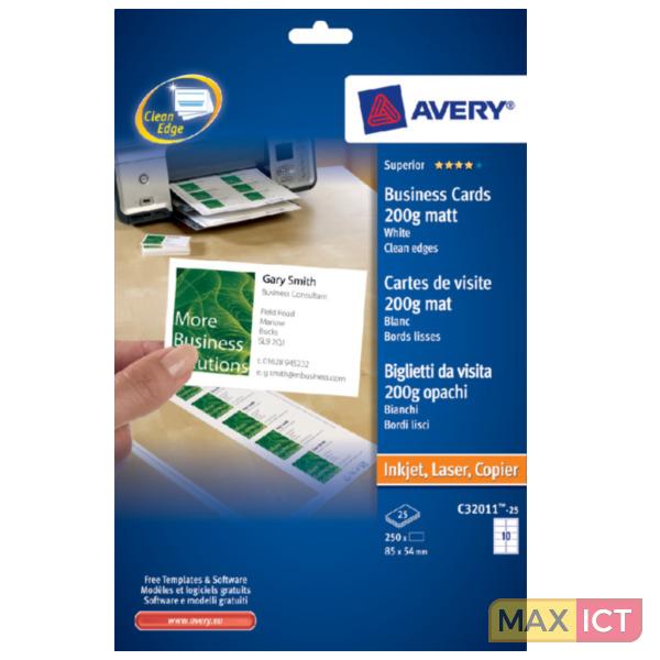 Avery C32011 25 250 Stuksuk S Visitekaartje Kopen Max Ict B V