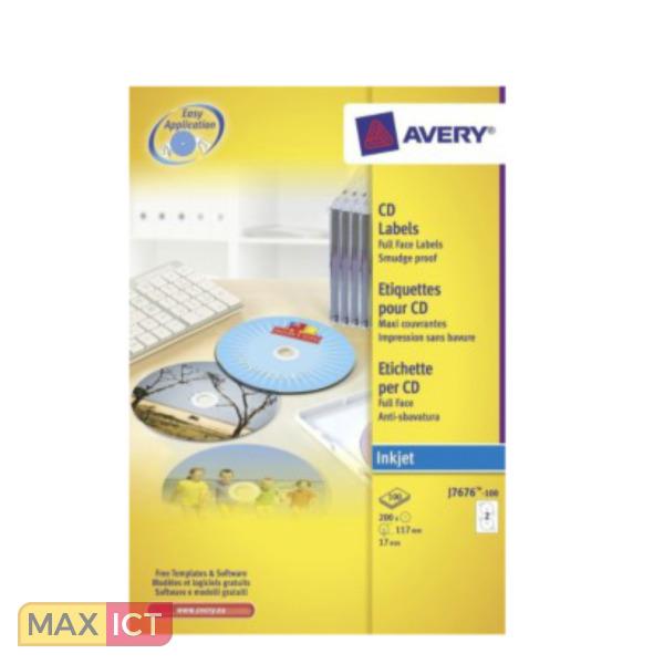 Cd Dvd Ladenkast.Avery J8676 100 200 Stuksuk S Cd Dvd Kopen Max Ict B V