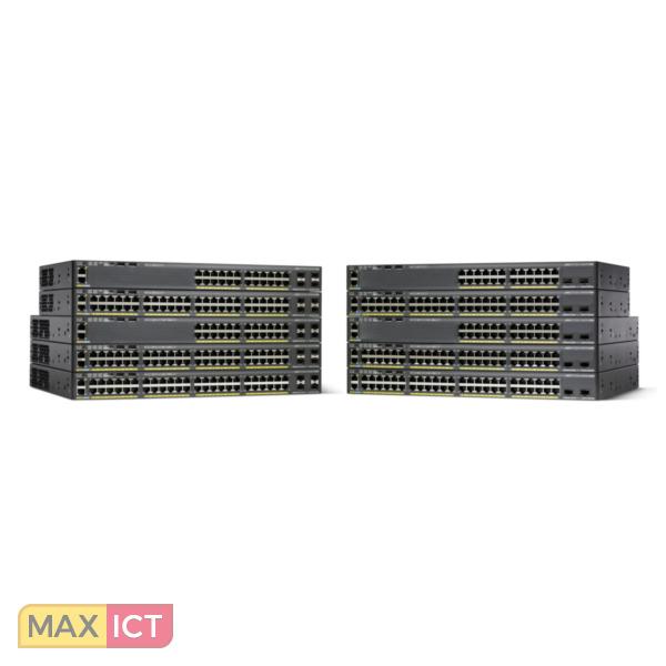 Cisco Catalyst WS-C2960X-48FPS-L netwerk-switch Managed L2/L3 Gigabit Ethernet (10/100/1000) Zwart Power over Ethernet (PoE)