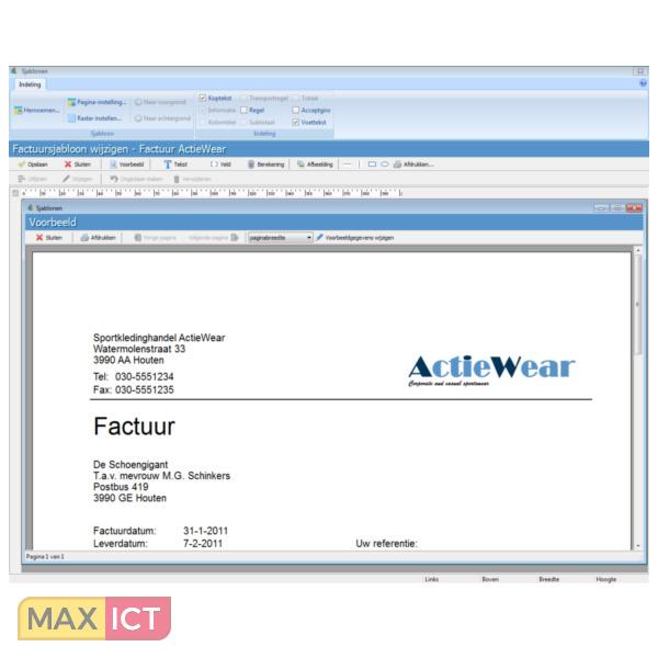 Davilex Factuur   Max ICT B.V.