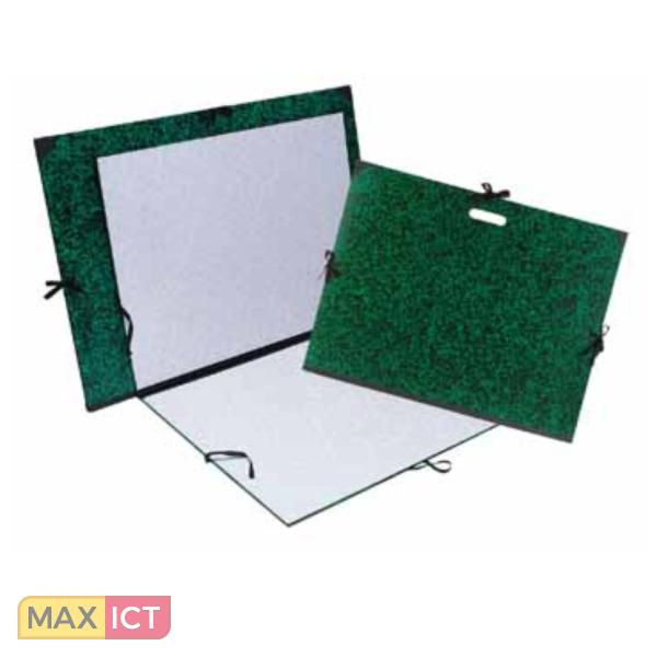 Exacompta Tekenmap Annonay met linten 32x45cm - voor formaat A3-Groen