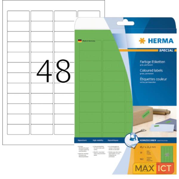 Herma Etiketten groen 45.7x21.2 A4 960 st.