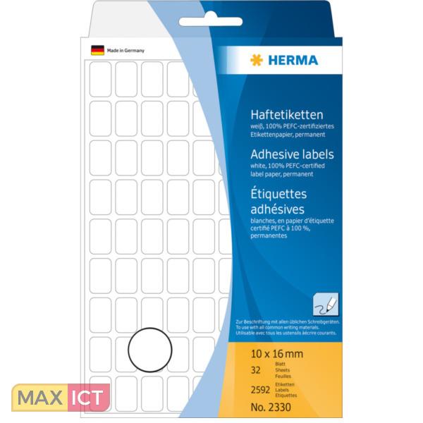 Herma Universele etiketten 10x16mm wit voor handmatige opschriften 2592 St