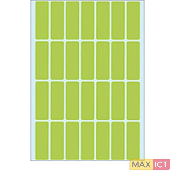 Herma Universele etiketten 13x40mm groen voor handmatige opschriften 896 St
