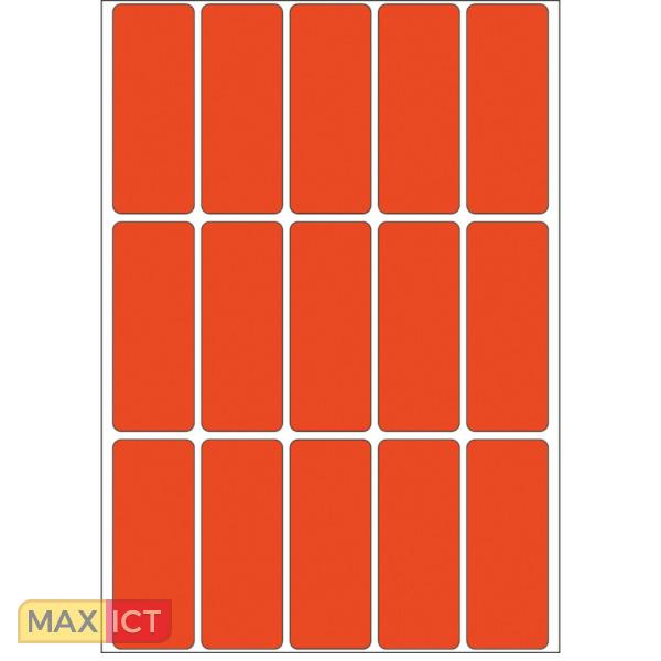 Herma Universele etiketten 20x50mm rood voor handmatige opschriften 480 St