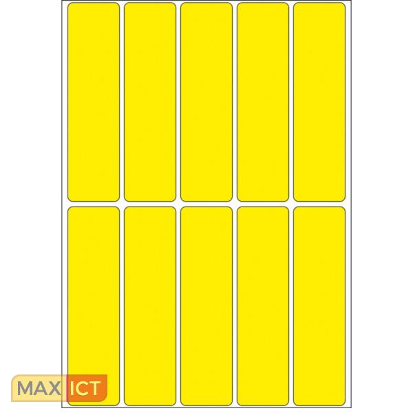 Herma Universele etiketten 20x75mm geel voor handmatige opschriften 320 St