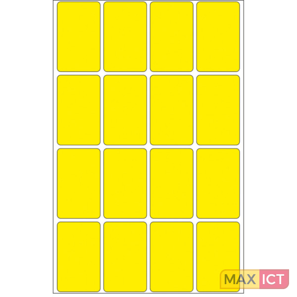 Herma Universele etiketten 25x40mm geel voor handmatige opschriften 512 St
