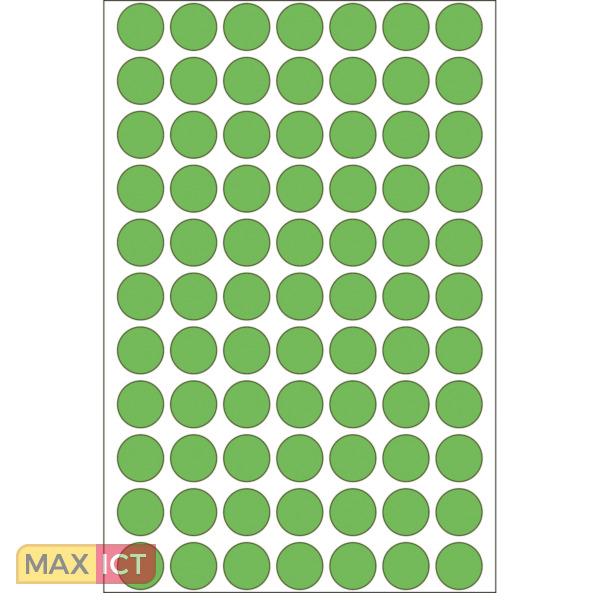 Herma Universele etiketten/Kleur punten ø 13mm groen voor handmatige opschriften 2464 St