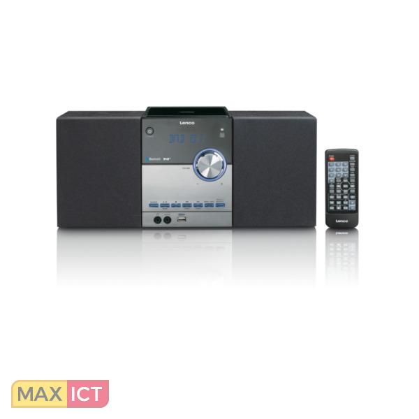 Lenco Mc 150 Analoog Digitaal 22w Zwart Zilver Draagbare Stereo Installatie