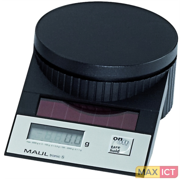 MAUL Solar Letter Scales MAULtronic S. 2000 gr. Black Electronic postal scale Zwart