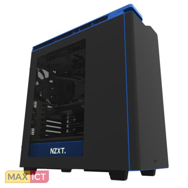 NZXT H440 Midi-Toren Zwart, Blauw computerbehuizing