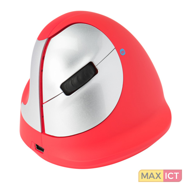 R-Go Tools HE Sport, Ergonomische muis, Rood, Bluetooth, Medium (165-195mm), Linkshandig