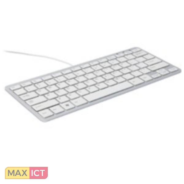 R-Go Tools R-Go Compact Toetsenbord, QWERTY (UK), wit, Bedraad