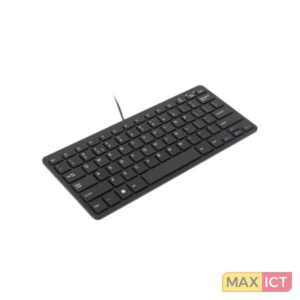 R-Go Tools R-Go Compact Toetsenbord, QWERTY (UK), zwart, Bedraad