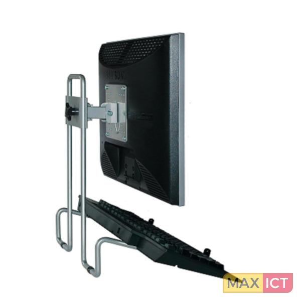 R-Go Tools R-Go Steel Flex Monitorstandaard, verstelbaar, zilver