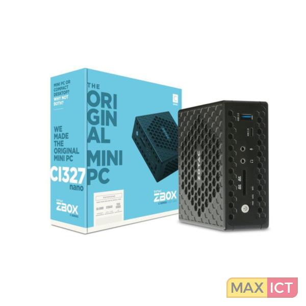 Zotac ZBOX CI327 nano 1.10GHz N3450 Mini PC Zwart Mini PC